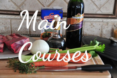 Recipes for main courses