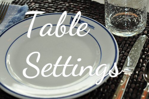 Tips for table settings