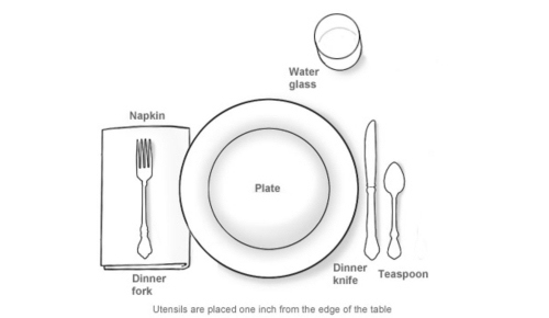 An informal table setting for Simple table setting