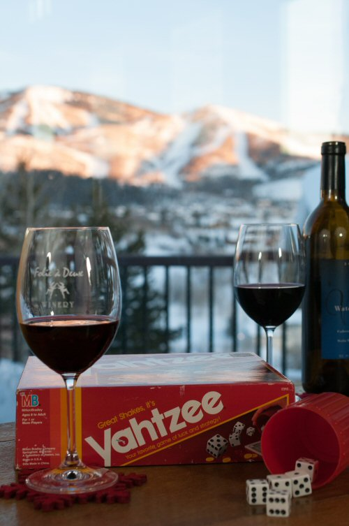 Après Ski Wine and Yahtzee