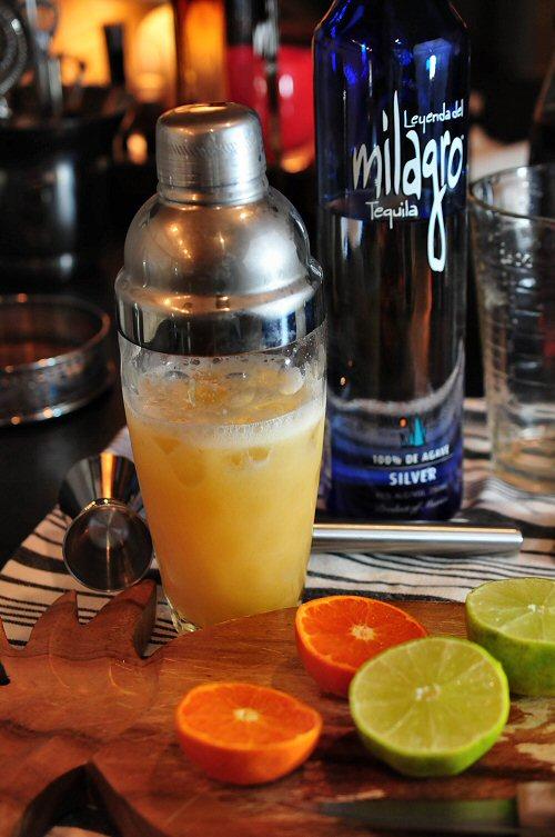 Making Tangerine Margaritas