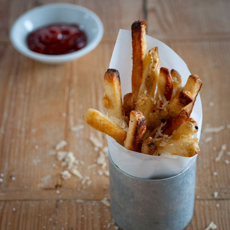 Oven Baked French Fries with Truffle Oil