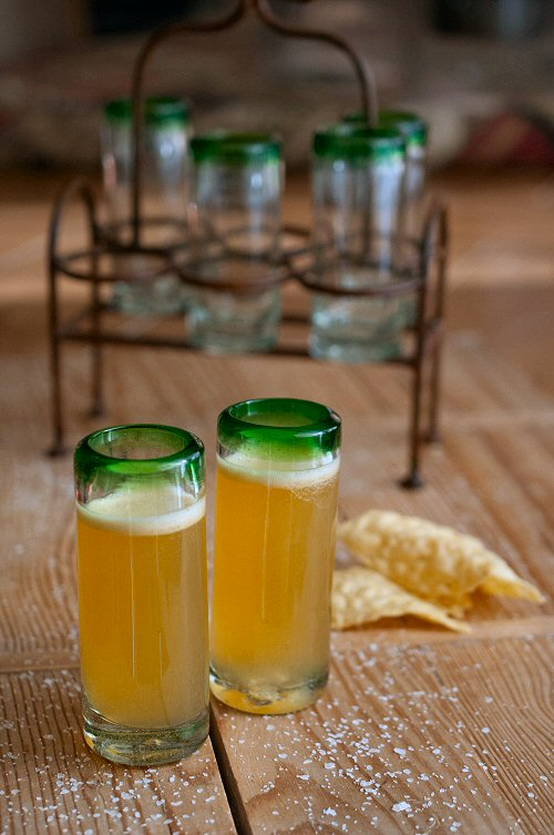 Tangerine Margaritas and Glasses