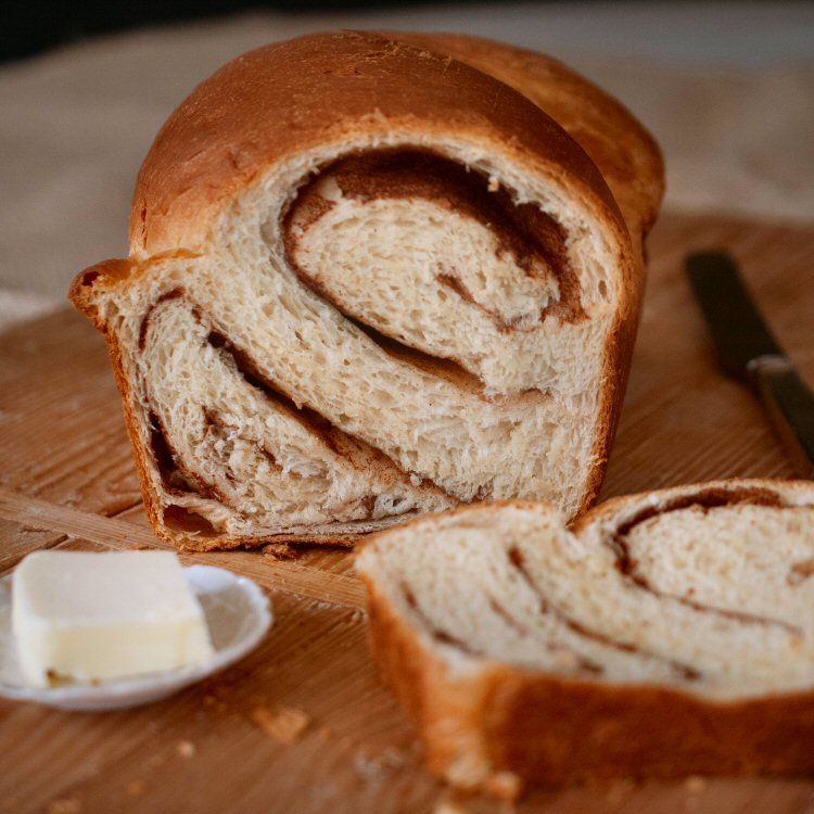 Loaf of Cinnamon Swirl Bread