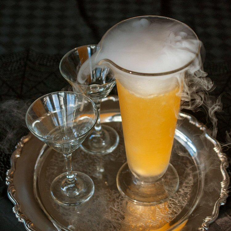 Tangerine Martinis in Beaker