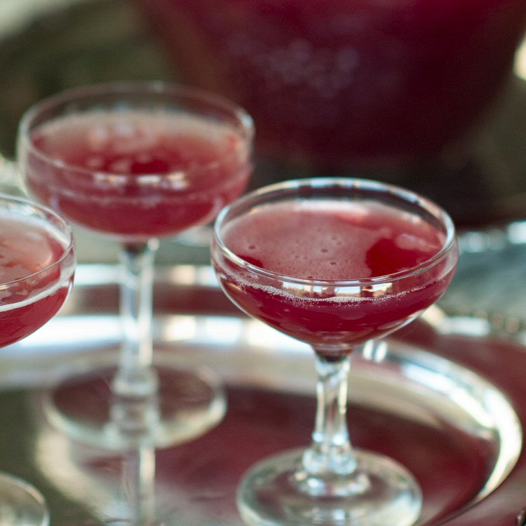 holiday champagne punch champagne christmas punch recipe holiday ...