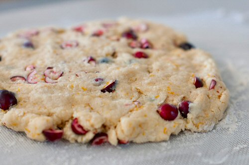Scone Dough with Cranberries