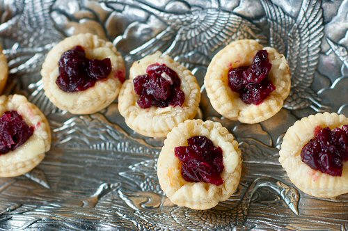Tray of Brie Cranberry Bites