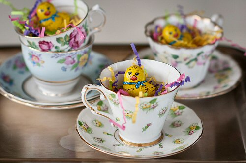 Easter Teacups