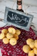 Cornbread Muffins with Sign